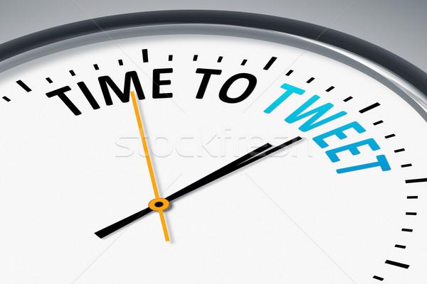 Relógio texto tempo chilrear imagem típico Foto stock © magann