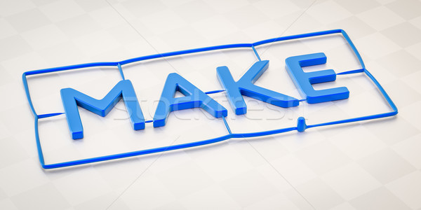 plastic injection molding word make Stock photo © magann