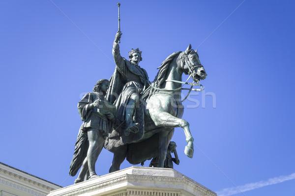статуя царя первый Мюнхен изображение лошади Сток-фото © magann
