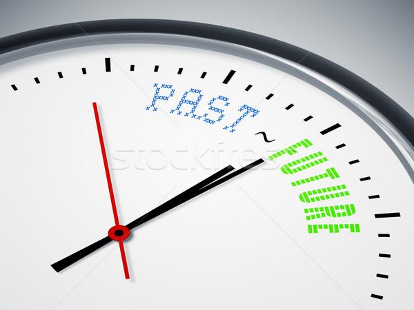 Passado futuro imagem bom relógio negócio Foto stock © magann