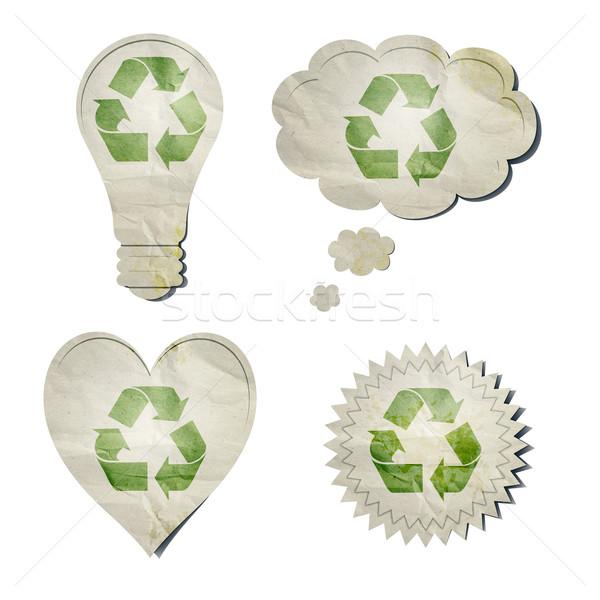 Matricák kép elegáns újrahasznosítás nap fény Stock fotó © magann