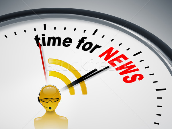 time for news Stock photo © magann