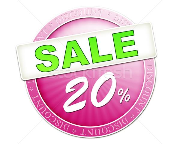 Satış düğme 20 görüntü yararlı kırmızı Stok fotoğraf © magann