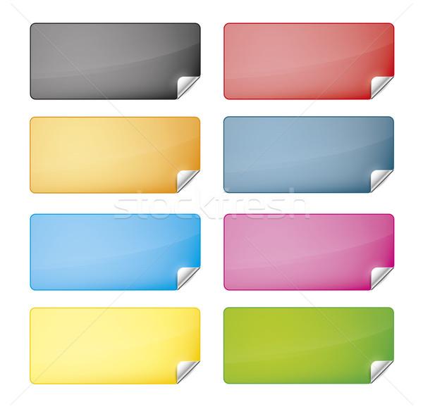 Stok fotoğraf: Web · etiketler · sekiz · farklı · renkler · web · sitesi