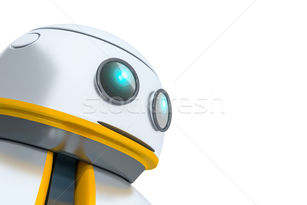 Stockfoto: Zoete · weinig · robot · hoofd · detail · man