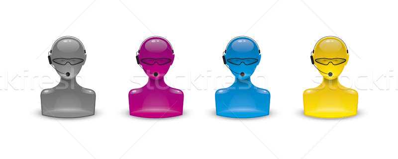 call center icons Stock photo © magann