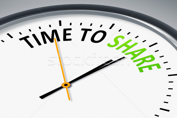 clock with text time to share Stock photo © magann