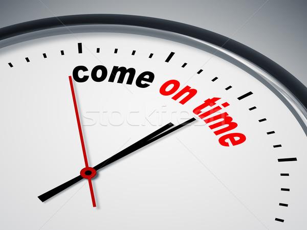 Jött idő kép szép óra üzlet Stock fotó © magann