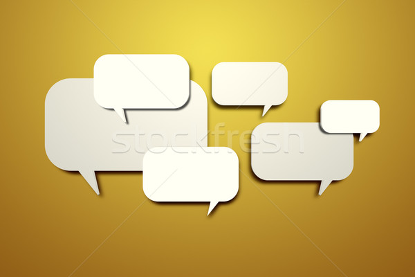 blank speech bubbles on the wall Stock photo © magann