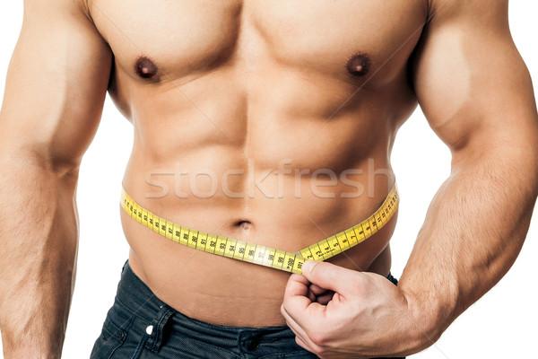 мера тело изображение красивый молодые мышечный Сток-фото © magann