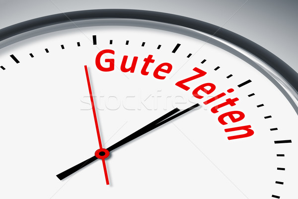 Clock with text Stock photo © magann