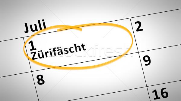 Zurique festival primeiro linguagem calendário pormenor Foto stock © magann