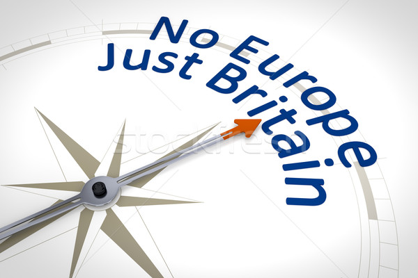 compass with the text no Europe just Britain Stock photo © magann