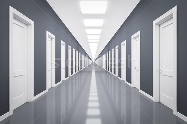 エンドレス 白 ドア 3D レンダリング ビジネス ストックフォト © magann