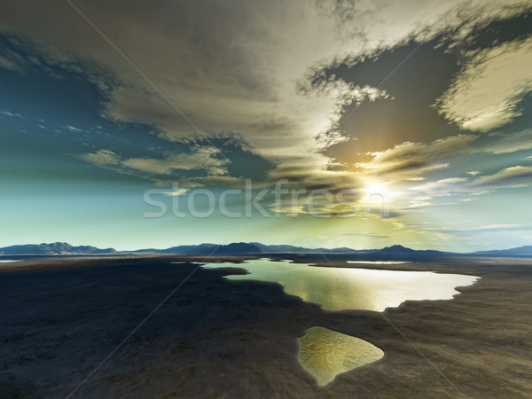 Désert coucher du soleil image Nice lumière terre Photo stock © magann