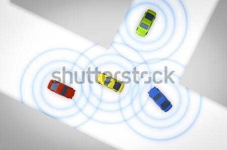 connected autonomous cars Stock photo © magann
