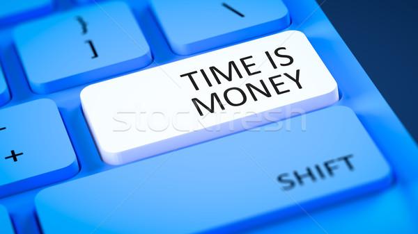 Tijd is geld afbeelding tekst geld internet Stockfoto © magann