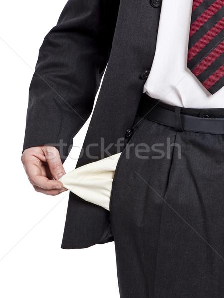 Nincs pénz üzletember üzlet kéz test férfiak Stock fotó © magann