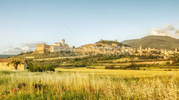 Assisi in Italy Umbria at the evening Stock photo © magann