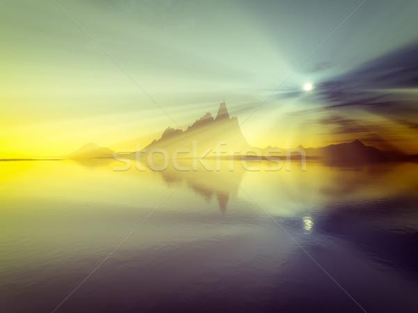 sunset over the ocean Stock photo © magann
