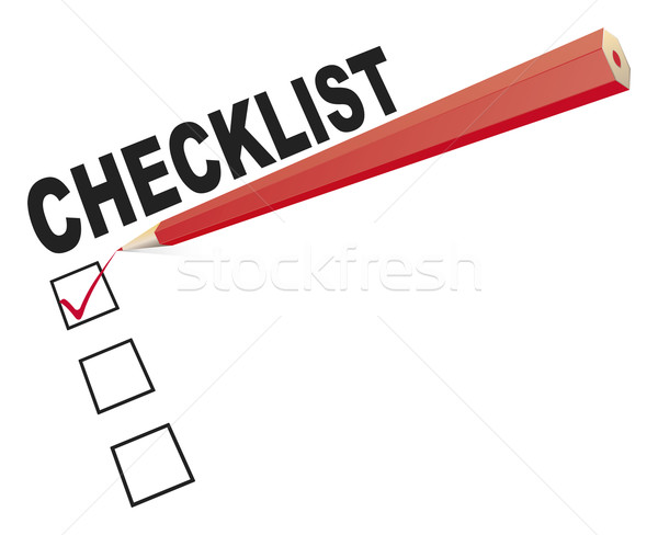 checklist with red pen Stock photo © magann