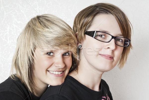 teenage girl friends Stock photo © magann