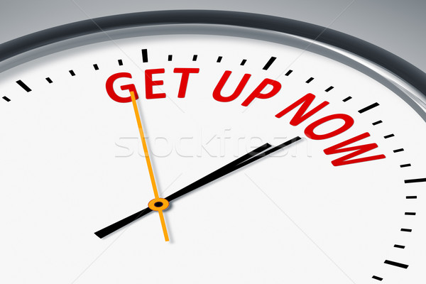 clock with text get up now Stock photo © magann