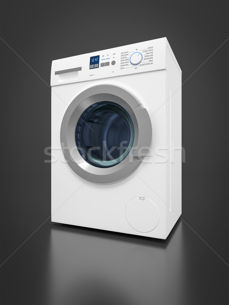 Tipik çamaşır makinesi görüntü su karanlık beyaz Stok fotoğraf © magann