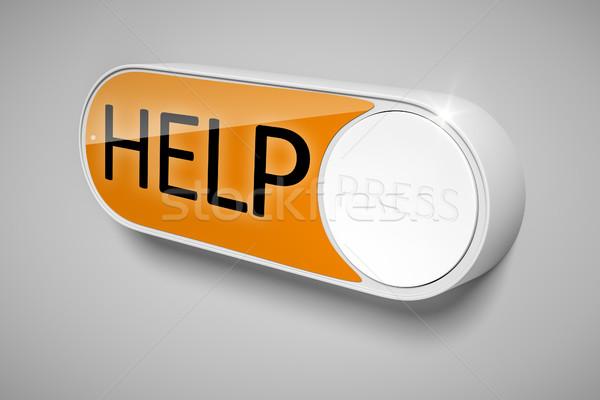 a dash button to order help Stock photo © magann