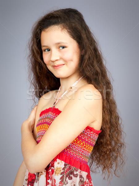 Joven retrato imagen mujer cara adolescente Foto stock © magann