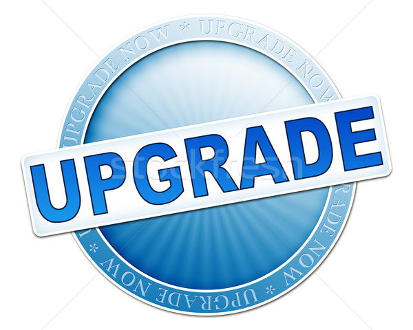 upgrade button blue Stock photo © magann