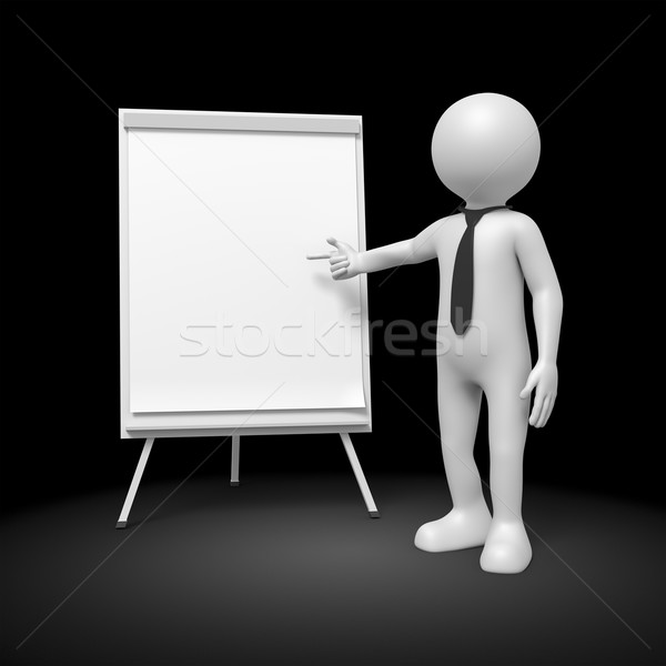 man flip chart Stock photo © magann