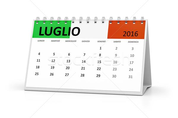 italian language table calendar 2016 july Stock photo © magann