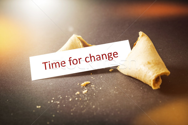 a fortune cookie with message time for change Stock photo © magann
