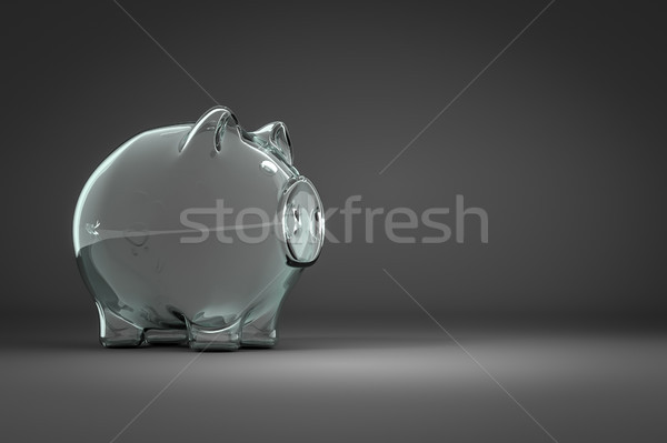 an empty piggy bank with space for your content Stock photo © magann