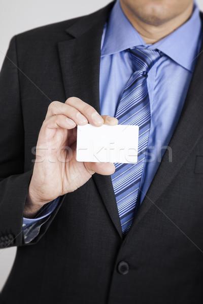 businessman shows his card Stock photo © magann