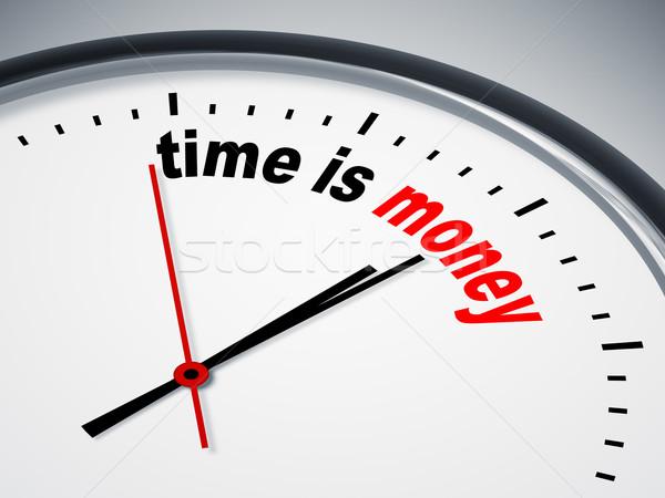 Время-деньги изображение Nice часы бизнеса время Сток-фото © magann