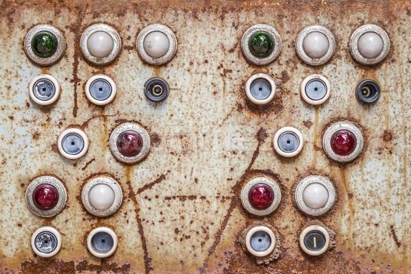 Foto d'archivio: Pannello · immagine · vecchio · texture · verde · industria