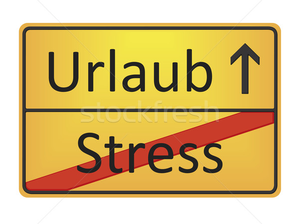 Urlaub - Stress Stock photo © magann