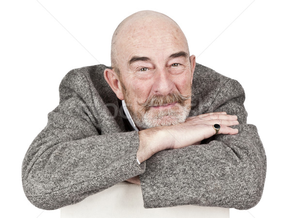 Vieillard gris barbe visage homme seuls Photo stock © magann