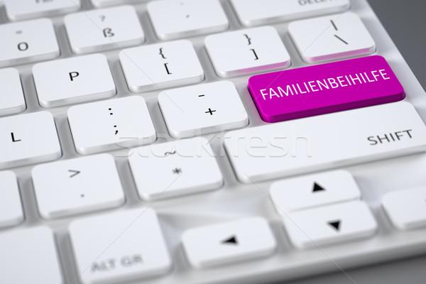 Toetsenbord familie toelage tekst technologie Stockfoto © magann