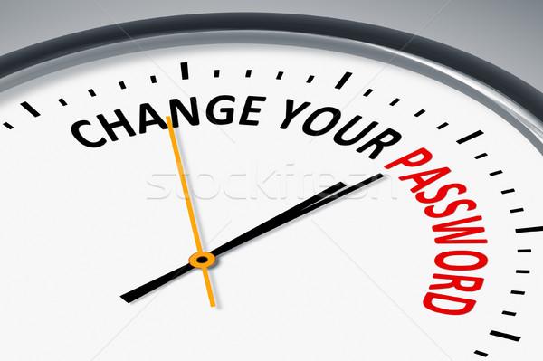Saat metin değiştirmek parola görüntü tipik Stok fotoğraf © magann