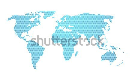 earth map dotted Stock photo © magann