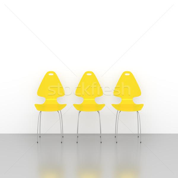 yellow chairs Stock photo © magann