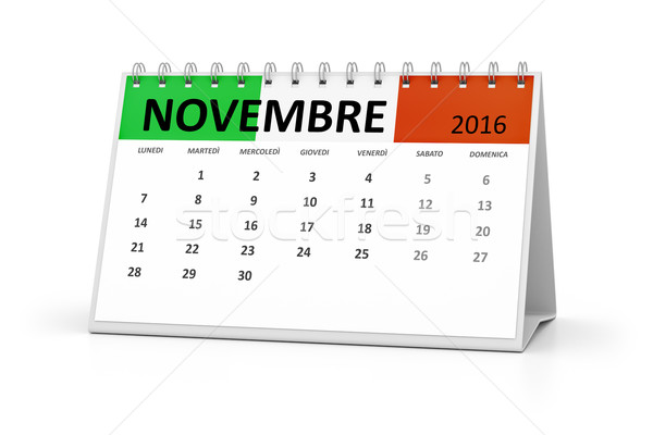 italian language table calendar 2016 november Stock photo © magann