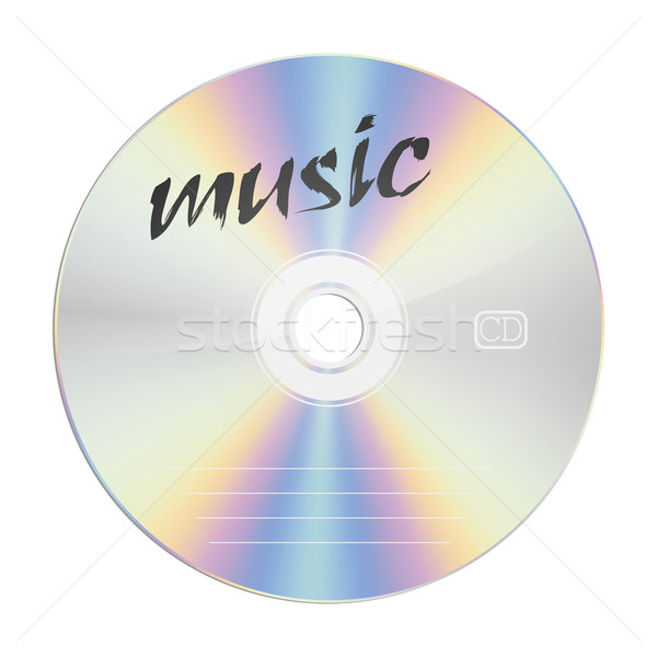 музыку изображение безопасности компакт-дисков компьютер служба Сток-фото © magann