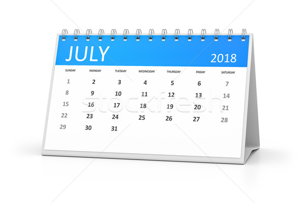 table calendar 2018 july Stock photo © magann