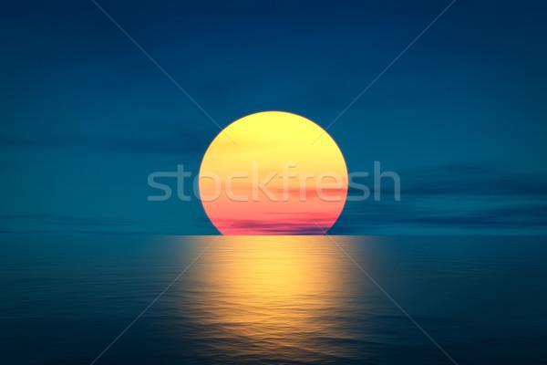 great sunset over the ocean Stock photo © magann