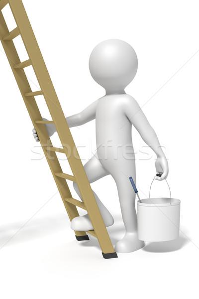 man and ladder Stock photo © magann