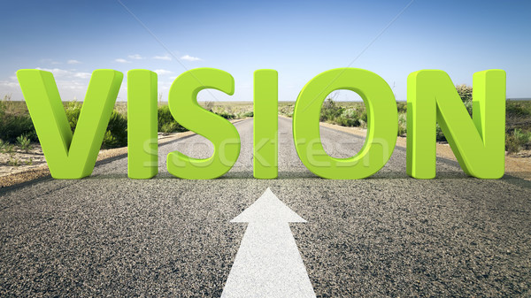 Route horizon vision image texte 3d affaires Photo stock © magann